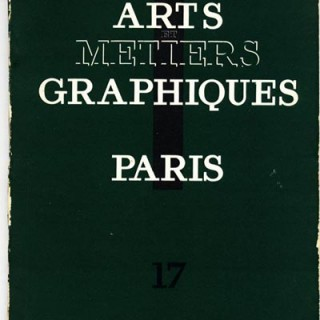 ARTS ET METIERS GRAPHIQUES no. 17, May 1930.  Franz Masereel, Guillaume Apollinaire, etc.