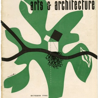 ARTS AND ARCHITECTURE, October 1948. New Lamps in Europe by Edgar Kaufmann, Eames Office's Parke Meek Cover.
