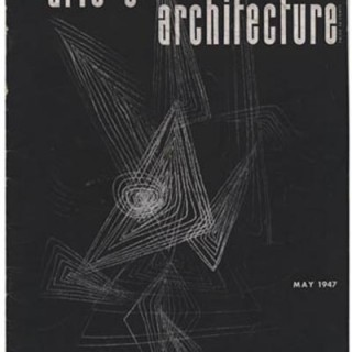 ARTS AND ARCHITECTURE, May 1947. Cover design by Harry Bertoia.