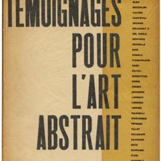 Alvard, Julien: TEMOIGNAGES POUR L'ART ABSTRAIT 1952. Paris: Editions d'Art d'Aujourd'hui, 1952. Abstract pochoir plates