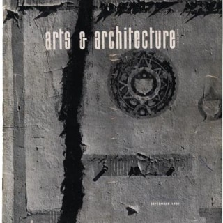 ARTS AND ARCHITECTURE, September 1951. John Entenza [Editor]. Max Yavno Cover; Alvin Lustig shop design; etc.