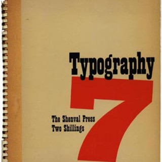 TYPOGRAPHY 7, Winter 1938. Edited by Robert Harling with James Shand & Ellic Howe. London: The Shenval Press.