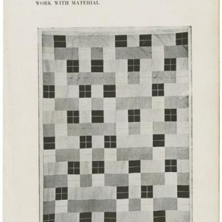 "Albers, Anni: ""Work With Material"" in BLACK MOUNTAIN COLLEGE BULLETIN 5. Black Mountain, NC: November 1938."
