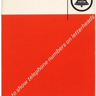 Sutnar, Ladislav: HOW TO SHOW TELEPHONE NUMBERS ON LETTERHEADS. New York: Bell System, n. d. [1964].