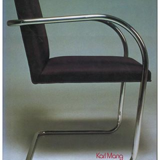 FURNITURE. Karl Mang: HISTORY OF MODERN FURNITURE. New York: Abrams 1979.