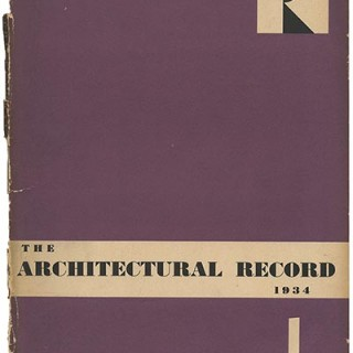 ARCHITECTURAL RECORD January 1934. Frederick J. Kiesler's Space House and Experimental Houses.