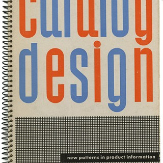 Sutnar, Ladislav & Knud Lönberg-Holm: CATALOG DESIGN: NEW PATTERNS IN PRODUCT INFORMATION. New York: Sweet's Catalog Service, 1944. With Supplements.