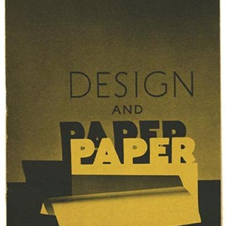 Westervelt, Walter M.: DESIGN AND PAPER No. 16. New York: Marquardt & Company Fine Papers, n. d. [circa 1944].