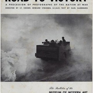 Bayer, Herbert:  ROAD TO VICTORY, A Procession Of Photographs Of The Nation At War. The Museum of Modern Art Bulletin, Volume 9, Nos. 5 – 6, June 1942.