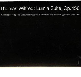 Wilfred, Thomas: LUMIA SUITE, Op. 158. New York: Museum of Modern Art, 1963. Bound set of 12 detachable color postcards.