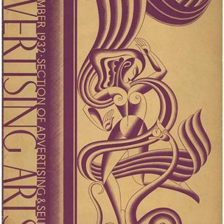 ADVERTISING ARTS, September 1932. Frederick C. Kendall [Editor]; Boris Artzybasheff cover, John Henry Nash, Jean Dupas, Joseph Sinel, etc.