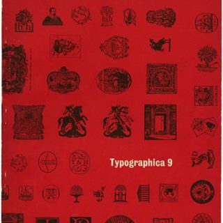 TYPOGRAPHICA 9. Edited by Herbert Spencer. London: Lund Humphries [First Series] 1954.