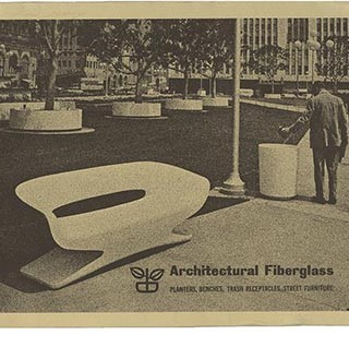 Architectural Pottery: ARCHITECTURAL FIBERGLASS [Planters, Benches, Trash Receptacles, Street Furniture]. Los Angeles: Architectural Pottery, August 1965.