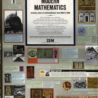 Eames Office: MEN OF MODERN MATHEMATICS, A History Chart of Mathematicians from 1000 to 1900. IBM Corp., 1966.