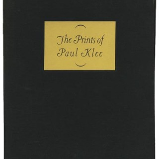 KLEE, PAUL. James Thrall Soby: THE PRINTS OF PAUL KLEE. New York: Curt Valentin, 1945. First edition [1,000 copies].