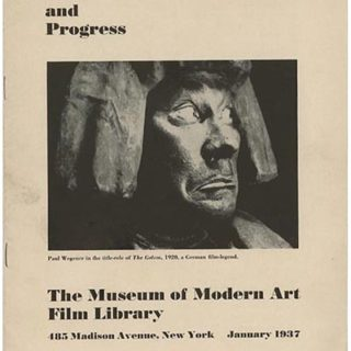 MUSEUM OF MODERN ART FILM LIBRARY: WORK AND PROGRESS. New York : Museum of Modern Art Film Library, 1937. Iris Barry [Curator].