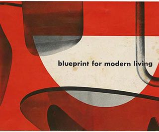 Nelson, George: BLUEPRINT FOR MODERN LIVING. Zeeland, MI: The Herman Miller Furniture Company, [1948]. Designs by George Nelson, Isamu Noguchi, Paul Laszlo and Charles Eames.