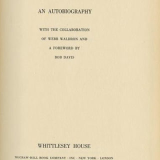 Starrett, Paul : CHANGING THE SKYLINE AN AUTOBIOGRAPHY. New York: Whittlesey House/McGraw-Hill, 1938.