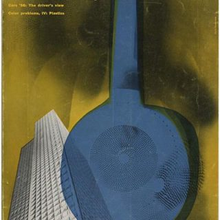 INDUSTRIAL DESIGN 4, August 1956. New York: Whitney Publications, Inc., [Vol. 3, No. 4]. Walter Dorwin Teague, Russell Wright, George Nelson, George Nakashima, James Prestini, Lee J. Mahsoud, Charles Eames.