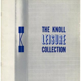 Knoll Associates: THE KNOLL LEISURE COLLECTION. New York: Knoll Associates, Inc., 1966.