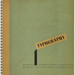 TYPOGRAPHY 1 – 8 [all published]. London: The Shenval Press, Winter 1936 – Summer 1939. Edited by Robert Harling.