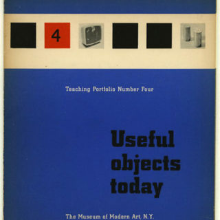 Daniel, Greta: USEFUL OBJECTS TODAY. New York: Museum of Modern Art, 1954. First edition [Teaching Portfolio Number Four].