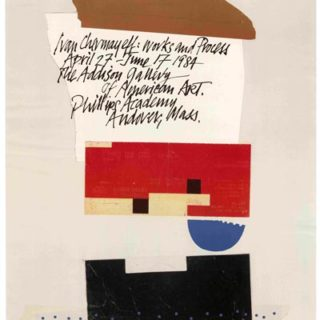 Chermayeff, Ivan: IVAN CHERMAYEFF: WORKS AND PROCESS [poster title]. Andover, MA: The Addison Gallery of American Art, Phillips Academy, 1984.
