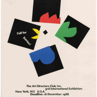 Rand, Paul: CALL FOR ENTRIES [poster title]. New York: The Art Directors Club, 1998. An unfolded and uncirculated example.