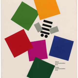 Rand, Paul: TOKYO COMMUNICATION ARTS /  OSAKA COMMUNICATION ARTS [poster title]. [Tokyo: Tokyo Communications Arts, 1990]. Inscribed to Gene and Helen Federico.