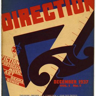 DIRECTION Volume 1, No. 1, December 1937. Edited by John Hyde Preston, H. L. River, Thomas Cochran, and M. Tjader Harris.