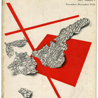 DIRECTION Volume 1, No. 9, November-December 1938. Paul Rand's First Direction Cover Design.