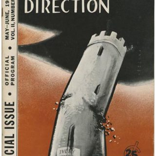 DIRECTION Volume 2, No. 3, May-June 1939. American Writers' Congress Official Program, cover by William Gropper.