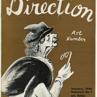 DIRECTION Volume 3, No. 1, January 1940. An American Art Number edited by W. L. River, William Gropper, Thomas Cochran and M. Tjader Harris.
