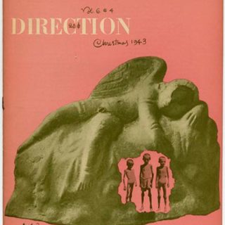 DIRECTION Volume 6, No. 4, December 1943. Paul Rand Cover Design; edited by M. Tjader Harris.