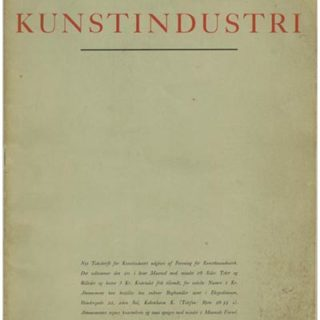 Danish Society of Arts and Crafts: NYT TIDSSKRIFT FOR KUNSTINDUSTRI. Copenhagen: Aargang 1, Januar 1928. Sigurd Schultz [Editor].