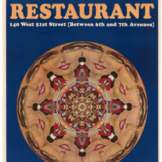 Max, Peter: TIN LIZZIE RESTAURANT / A RESTAURANT DESIGNED BY PETER MAX [poster title]. New York: Peter Max Enterprises, [1967].