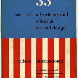 ADC 33. Bradbury Thompson [Designer/Editor]: THE 33RD ANNUAL OF ADVERTISING AND EDITORIAL ART AND DESIGN, 1954.