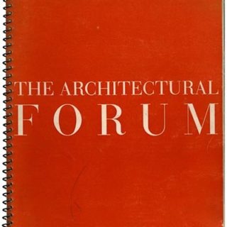 ARCHITECTURAL FORUM January 1940. Residences by John Lloyd Wright and J. R. Davidson, USHA Santa Rita Housing Project, Austin, TX.