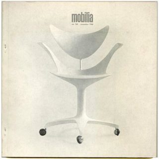 Mobilia no. 160. Snekkersten, DK: November 1968. Arne Jacobsen: Jørgen Kastholm. 88-page feature fully illustrated in color and black and white.