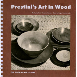 PRESTINI'S ART IN WOOD. Lake Forest, IL: The Pocahontas Press [1,000 copies], 1950. Edgar Kaufmann Jr. [introduction], Barbara Morgan [photography].