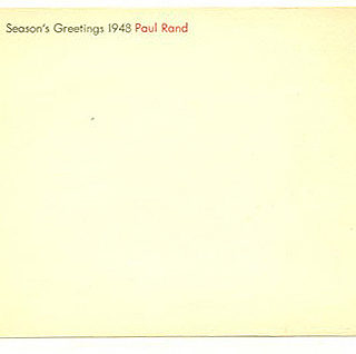 Rand, Paul: SEASON'S GREETINGS 1948. [New York: Paul Rand, 1948].