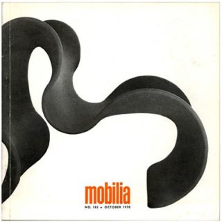 Mobilia no. 183, October 1970. Sedie A Milano; Shiro Kuramata.