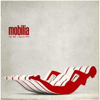 Mobilia no. 188, March 1971. Minoru Takeyama Body Furniture, Gunther Ueckers Nails.