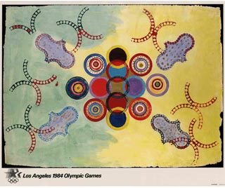 Benglis, Lynda: LOS ANGELES 1984 OLYMPIC GAMES [poster title]. Los Angeles: Knapp Communications Corp., [1982].
