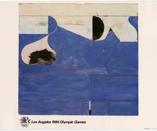 Diebenkorn, Richard: LOS ANGELES 1984 OLYMPIC GAMES [poster title]. Los Angeles: Knapp Communications Corp., [1982].