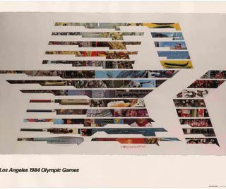 Rauschenberg, Robert: LOS ANGELES 1984 OLYMPIC GAMES [poster title]. Los Angeles: Knapp Communications Corp., [1982].