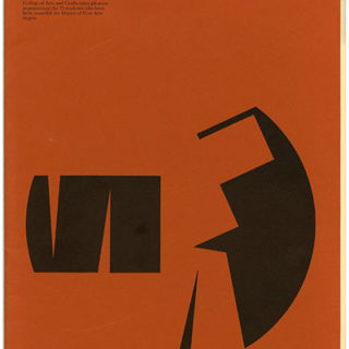 CCAC. Steve Holler [Designer]: MASTER OF FINE ARTS 1972 – 1973. Oakland: California College of Arts and Crafts, Volume LXVII, no. 2, Graduate Issue April 1973.