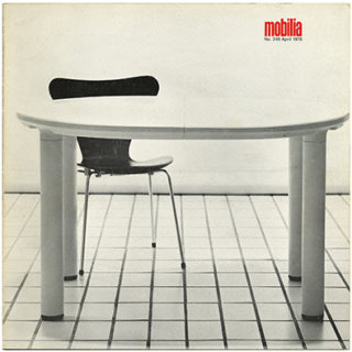 Mobilia no. 249. April 1976. Köln & Stockholm Furniture Fairs 1976, Ward Bennett, Hans Wegner, Rud Thygesen & Johnny Sørensen.