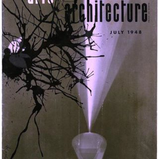 ARTS AND ARCHITECTURE, July 1948. Gyorgy Kepes Duotone Photogram cover.