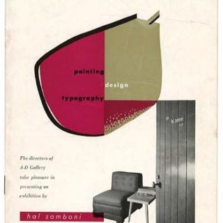 Zamboni, Hal: PAINTING / DESIGN / TYPOGRAPHY. New York: The Composing Room/A-D Gallery, 1949.